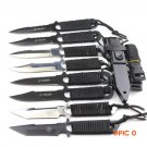 Hot!1pcs Leggings/Paratroopers Knife Stainless Steel Diving Straight knife Outdoor Surviva