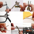 Stainless Steel 6 In 1 Multi Tool Keychain Utiliity Camping Swiss Pocket Survival Knife BC101