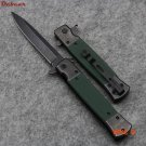 Dcbear High Quality Flash Tanto Folding Pocket Knife 440C Blade G10 Handle Camping Surviva