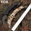 Hot Karambit Knife FOX Folding Knife 5Cr13 Blade G10 Handle Survival Knives Hunting Tactic