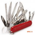 Red Swiss 32 Functions 17 Open 91mm Army Knife Stainless Steel Knife Multi Tool Folding Po