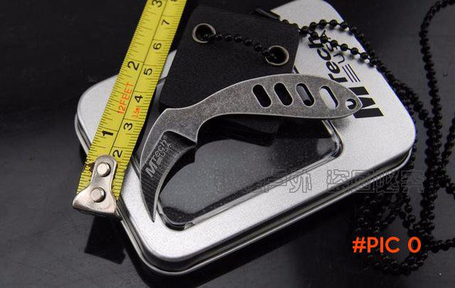 Multifunctional pocket claw 440 blade knife outdoor camping survival tactics neck necklace