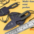 key d mini cutting knife tops dive scuba with ABS sheath scabbard holster outdoor camp hik