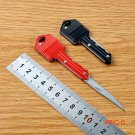 Portable Key Shaped Folding Stainless Steel Blade Outdoor Survival Knife Utility BC388