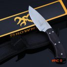 HOT! stainless steel New Browning Ebony Handmade hunting knife mini camping survival Tacti