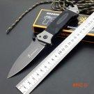 Browning Folding Knife 8CR14Mov Titanium Coating Blade G10 Handle Pocket Survival Knifes H