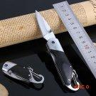Stainless Steel Folding Knife Wooden Handle Pocket Hunting Knife EDC Survival Knife BC505
