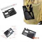 15 in 1 Tool Card SOS Survival Umbrella Rope Credit Card Knife Multi-purpose Pocket Tools BC509