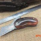 Mongolian Gazelle's Horn Handle Damascus Small Folding Knives,Rescue Pocket Knife,Surv
