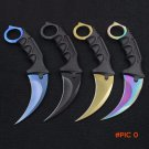 CS GO Karambit Steel Knife Fixed Blade Survival Knife Counter Strike Tactical Hunting Kniv