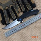 WTT Blue Moon Pocket Camping Folding Knife D2 Blade Tactical Survival Rescue Knives G10 Ha