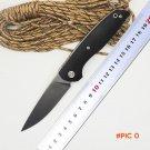 BMT F95 110 Tactical Survival Folding Knife D2 Blade Black G10 Handle Ball Bearing Knife C