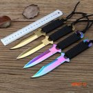 New Paratrooper Knife Stainless Steel Diving Straight knife Outdoor Survival Camping Pocke