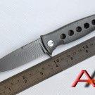 Mayo Russian Dr Death ceramic ball bearing Folding Knife D2 Titanium Carbon Fiber Camp Hun