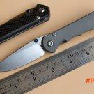 Jufule New Sebenza Inkosi 25 D2 TC4 titanium carbon fiber handle folding knife camping hun