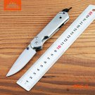 BMT Brand Small Combat Hunting Tactical Knife With 5CR15 Steel Blade Steel Handle CNC Pock