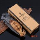 Browning X50 Titanium Steel Blade  Wood Handle Survival Knives Tactical Folding Mini Pock