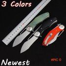 New Knight 2 Tactical Knife,D2 Blade Utility Folding Knife,EDC Gift Knives,Hunting Tools,O