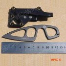 BK Small Straight Knife with ABS Sheath Gift Pocket Knife Black Survival Knife BC1011