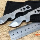 new! 2Pcs/Set. TOPS Neck Knife,5Cr15Mov Blade All Steel Handle Bottle Opener Survival Knife. BC1022