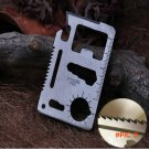 10pcs/lot Multi Tools Double Sawtooth 11 in 1 Multifunction Outdoor Hunting Survival Campi