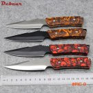 Dcbear New Arrival Straight Knife 420C Steel BladeTactical Survival Knives with Nylon Cove