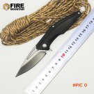 BMT Tactical Camping Folding Knife D2 Steel Black G10 Handle Outdoor Hunting Survival Knif