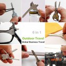 Hot! Stainless Steel 6 In 1 MultiTool Keychain Utiliity Camping Swiss Pocket Survival Knife BC1224