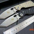 Custom ST-1 Knives Tactical Survival Folding Pocket Knife Stonewashed 5Cr13MOV 56HRC Blade