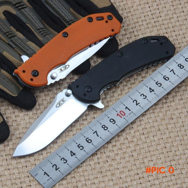 60HRC D2 Blade G10 Handle ZT Zero Tolerance Folding Knife Pocket Survival Knifes Tactical