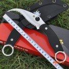 59-60HRC 9CR18MOV Blade Survival Knife Spyder Fixed Blade Knifes Pocket Tactical Hunting C