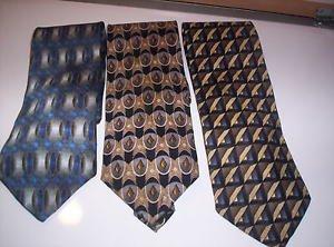 Lot of 3 Louis Roth 100% Silk Men's Neck Ties Made in Korea