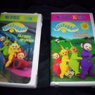 TELETUBBIES VHS - 2 TAPES! Nursery Rhymes / Dance with Teletubbies - PBS Kids