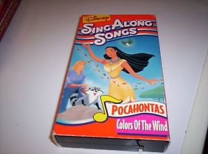 Disney Sing Along Colors of the Wind Pocahontas VHS