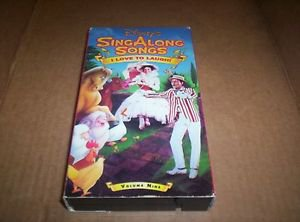 Disney�s Sing Along Songs I Love To Laugh  Volume 9 VHS Tape Collectible