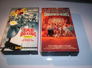 LOT of  2 EXERCISE WORKOUT FITNESS VHS VIDEOS, Richard Simmons & Billy Blanks