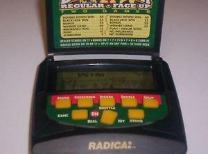 RARE RADICA HANDHELD ELECTRONIC  BLACKJACK 21 REGULAR FACE UP GAME LCD CASINO