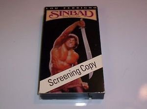 Rare Screening Copy, Sinbad of the Seven Seas (VHS, 1990) Lou Ferrigno
