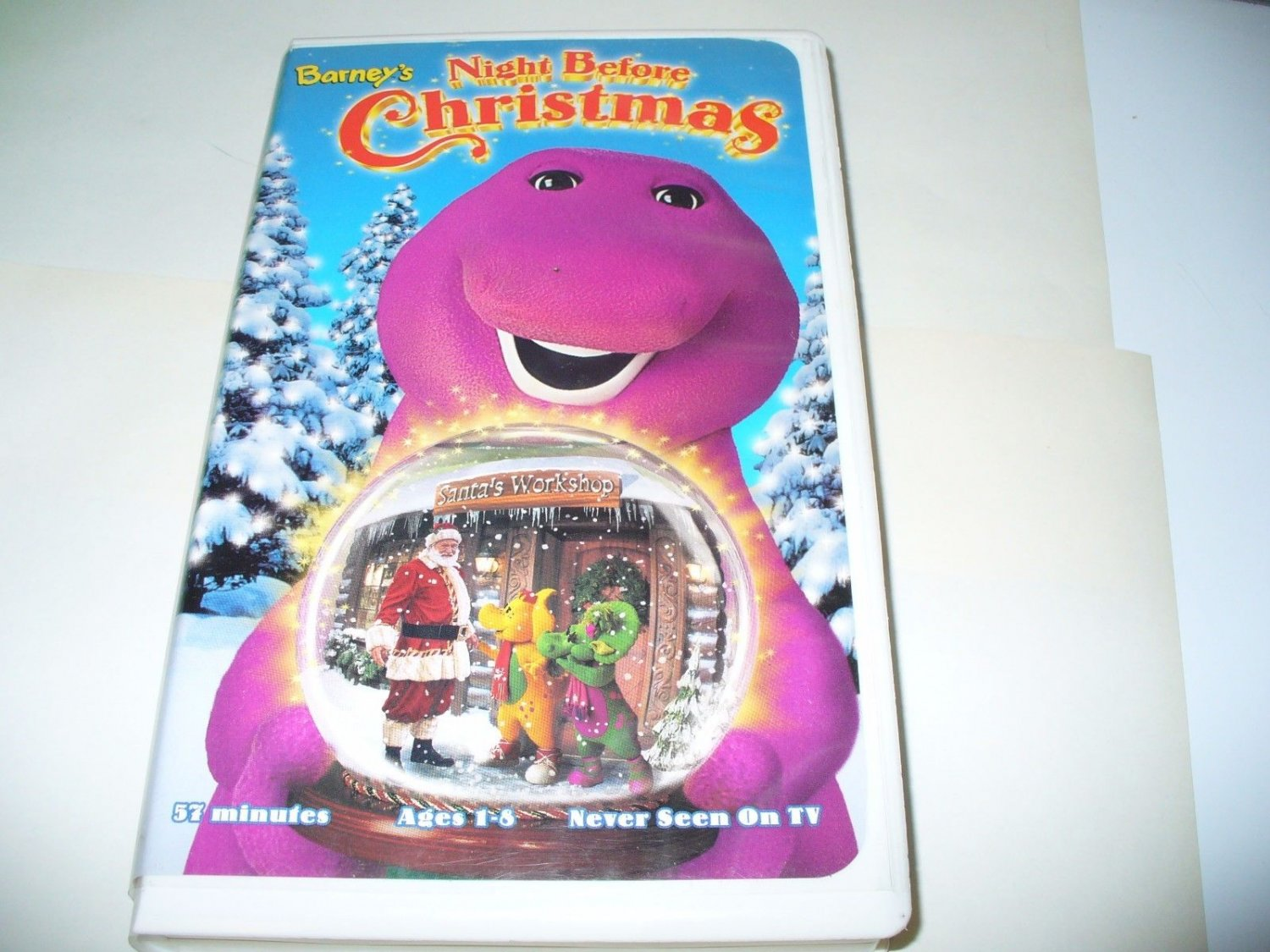 Barney\'s Night Before Christmas (VHS Tape) RARE Never on TV!