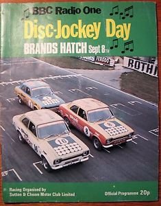 1974 Brands Hatch Disc-jockey day car race program