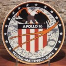 Apollo 16 BEST OFFER Collectors Plate Chateau Inc Denmark Kesa.#646 Space NASA