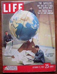 Life Magazine October 21, 1957 : Color cover - U.S. scientists