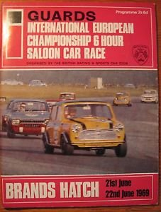 1969 Brands Hatch Saloon car race program