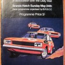 1970 Brands Hatch FORDSPORT SPEED DAY Auto Racing program