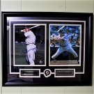 Joe DiMaggio & Mickey Mantle Yankee Greats Signed Custom Framed 20x16 Matted 8x10 and GFA Certified.