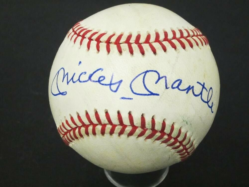 Mickey Mantle NY Yankees Signed Autographed OAL Baseball With Authentication