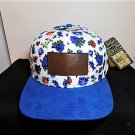 Hard Rock Cafe 1971 Bill Patch Floral Baseball Cap Women's Hat Trucker Leather