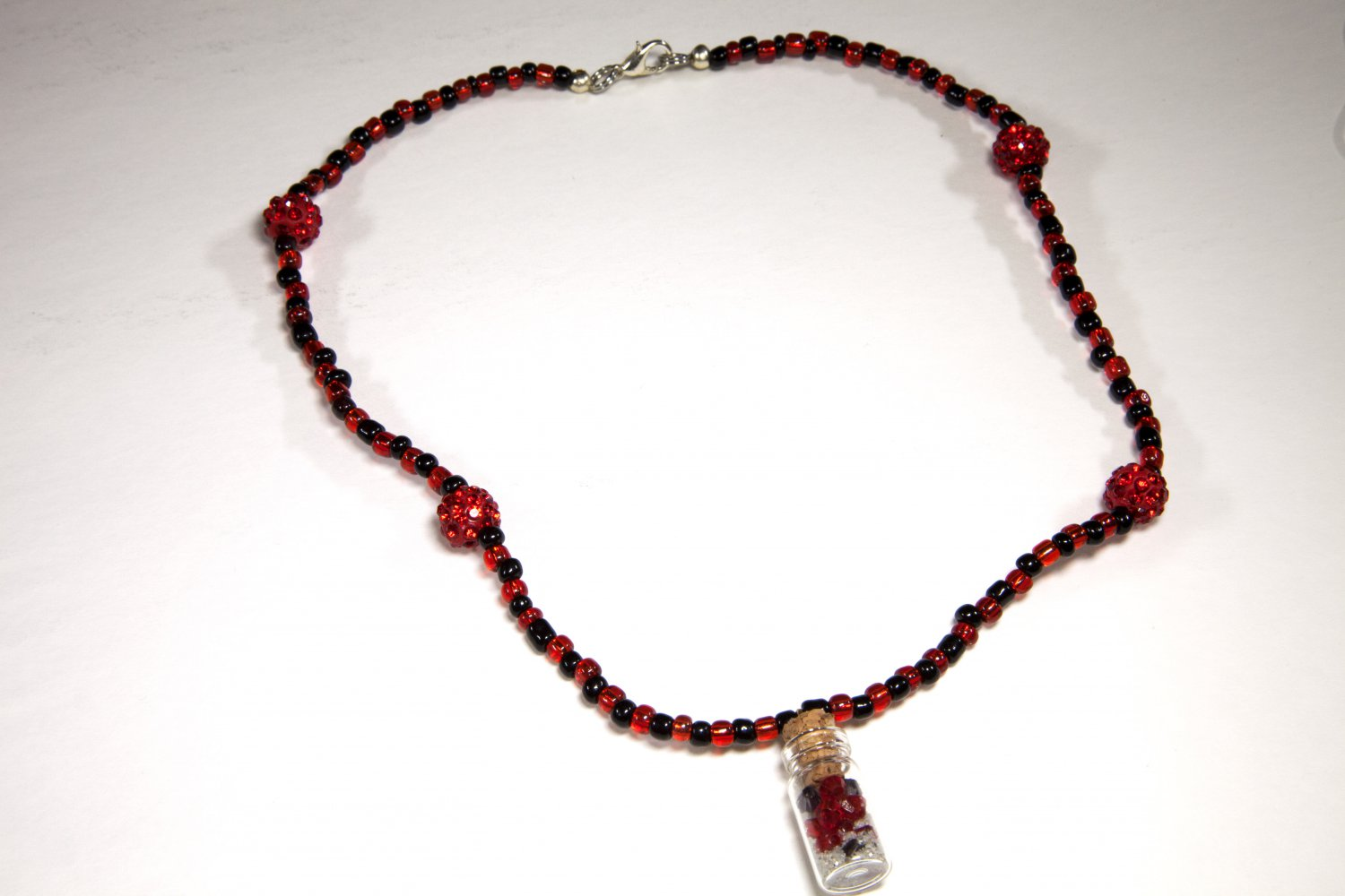 Black and Red Sand in the Bottle Choker
