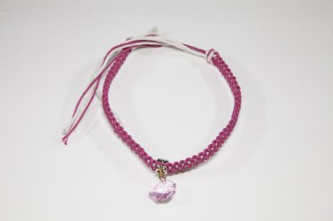 Pink and White Crystal Anklet