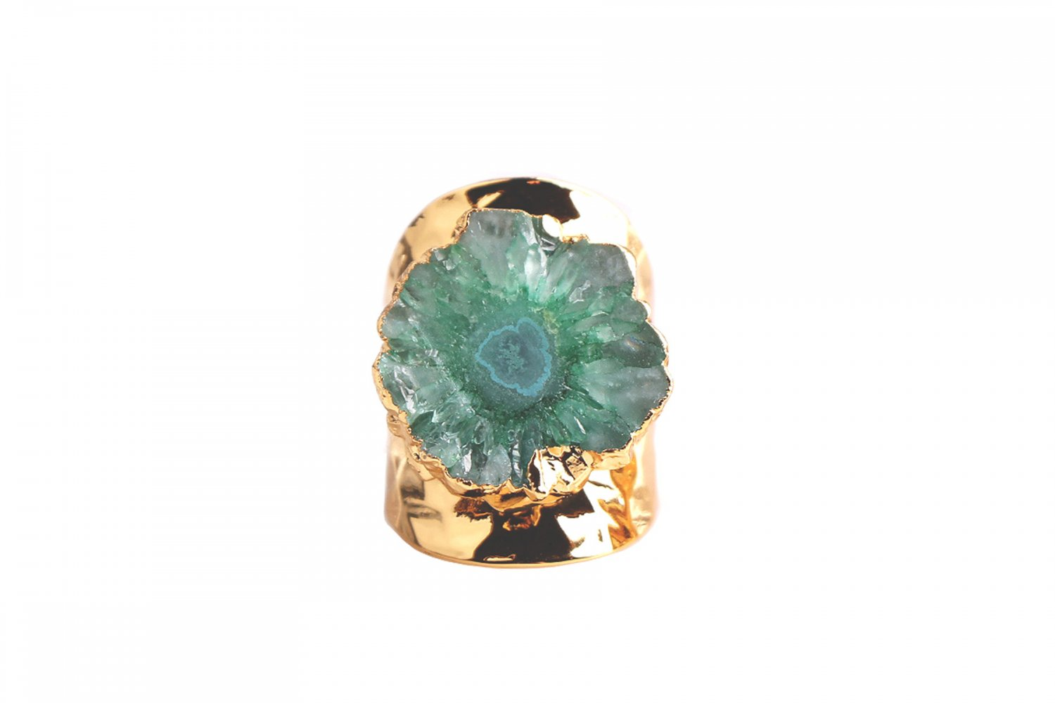 Magnolia Green Agate Open Ring
